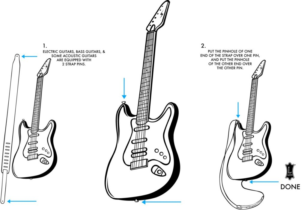 How to attach a strap to a guitar - Levy's Leathers
