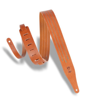 "Levy/'s DM1-XL-BLK 2.5/"" Basic Leather Guitar//Bass Strap Black"